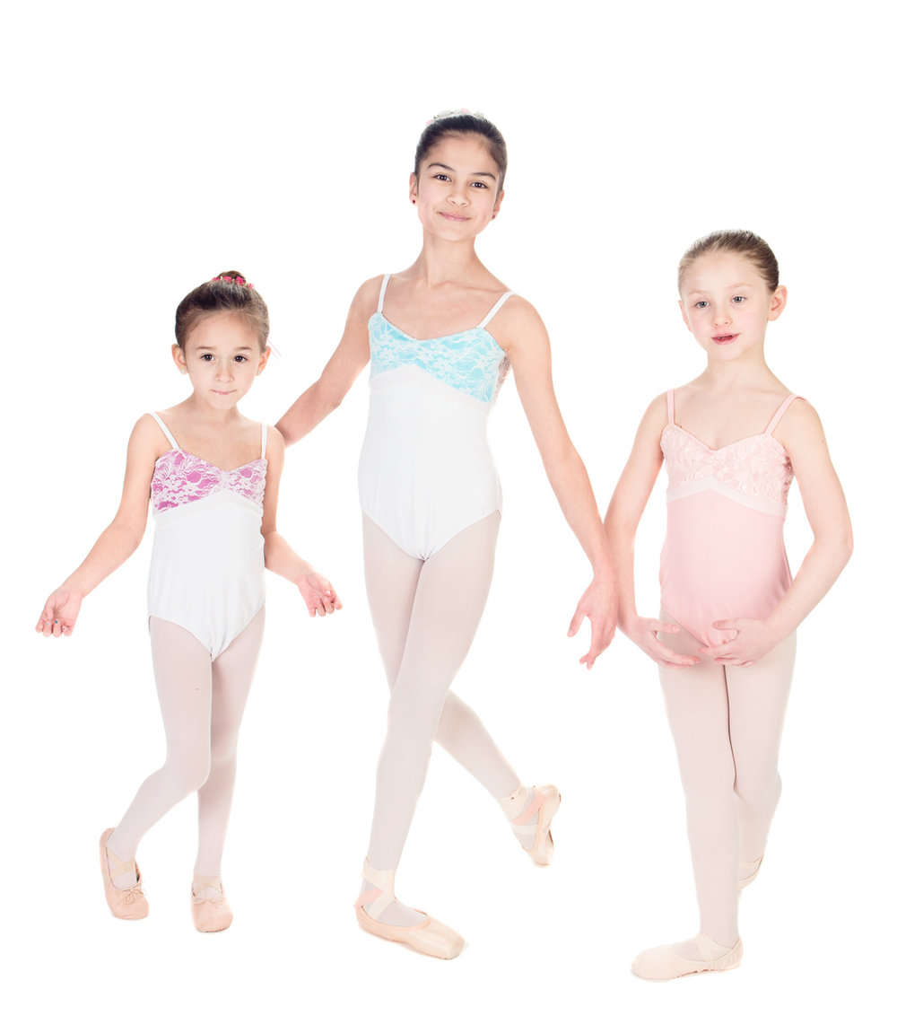 "Ballet Leotard - ""JULIETTE"" Leotard with Velvet and Lace - Spaghetti Straps Custom Designed Dance Wear"