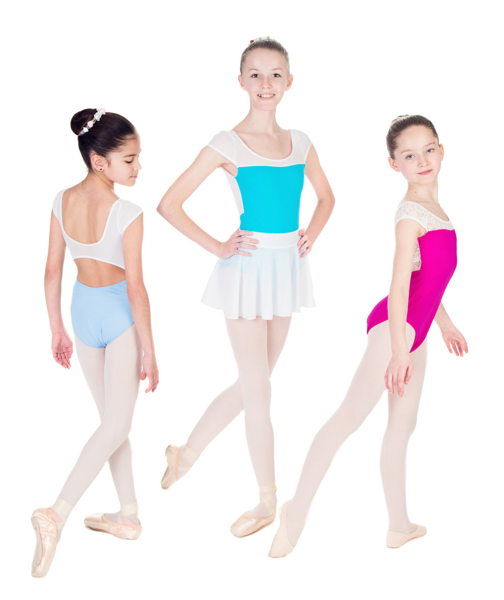 """""""Princess"""" Cap Sleeve Leotard with Open Back in Lace or Mesh - Custom Designed Leotards - Child and Adult Sizes"""