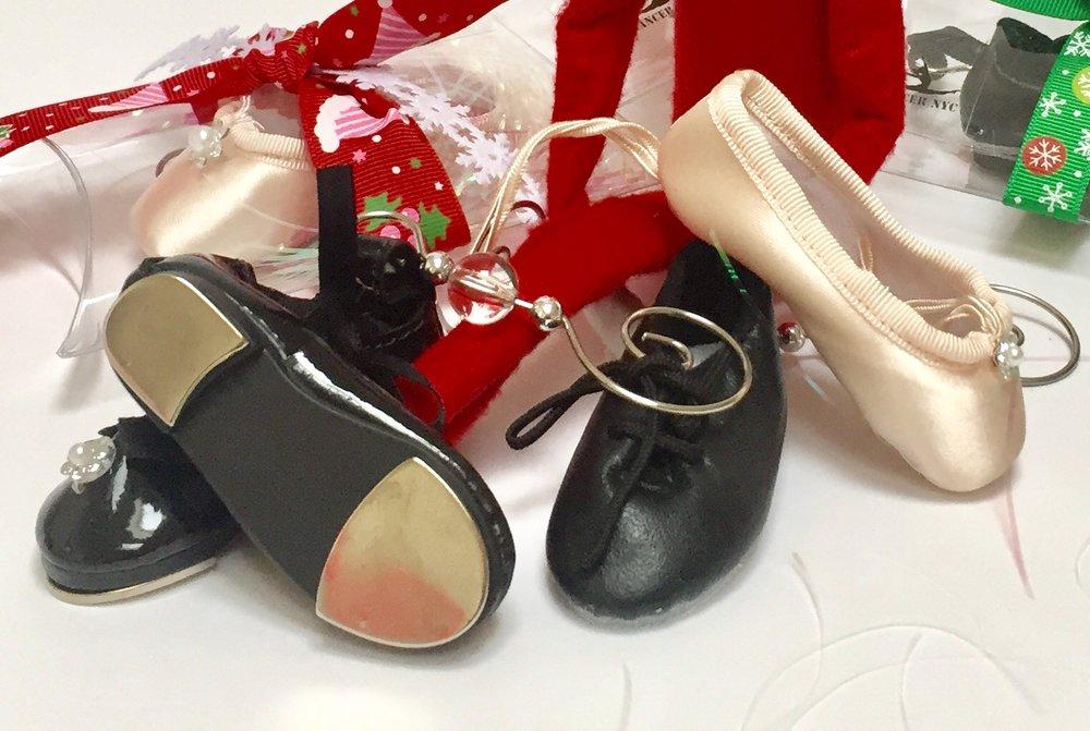 Mini Dance Shoes & Ice Skates - Keyring or Backpack Dangler