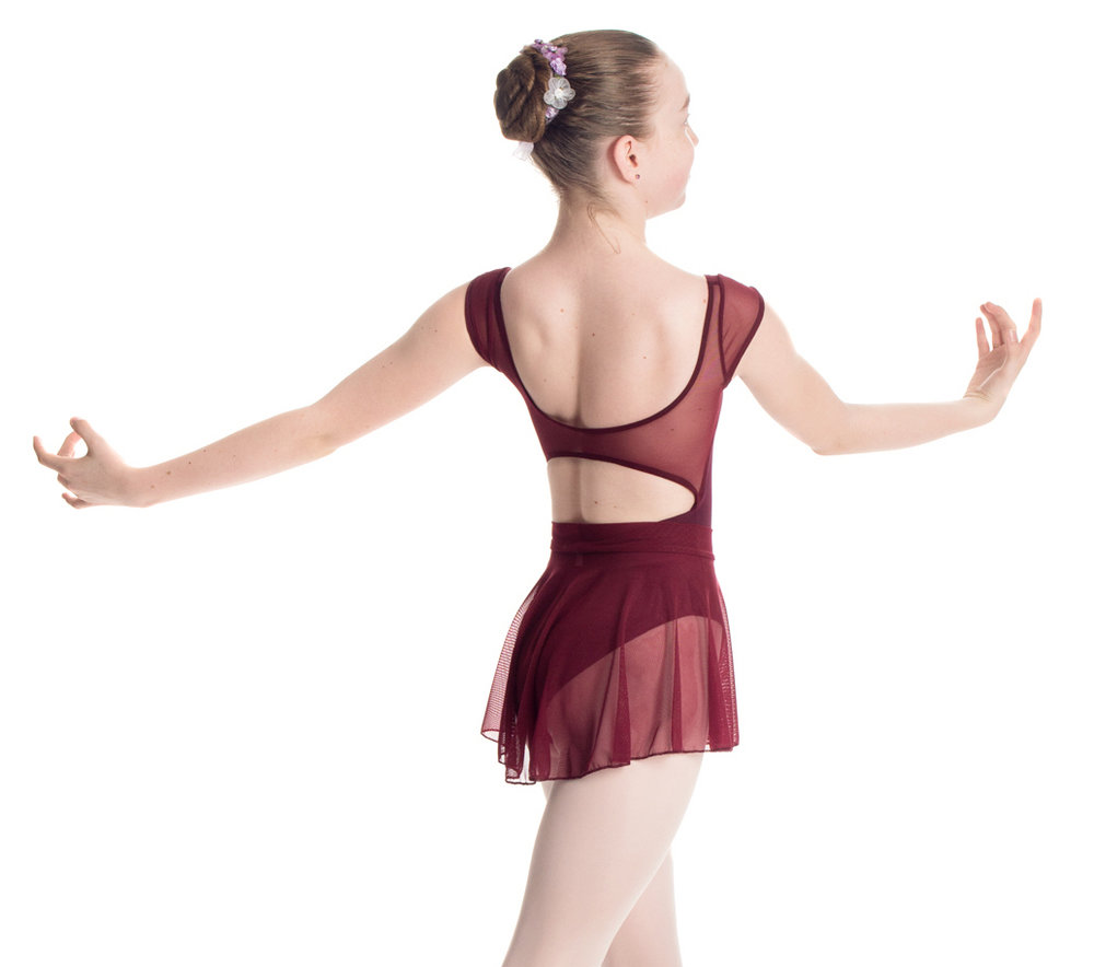 """Princess"" Leotard with Cap Sleeve and Back Strap in Mesh - Custom Designed Leotards - Child and Adult Sizes"