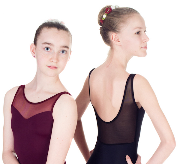 """Sweetheart"" Sleeveless Leotard with Open Back in Lace or Mesh - Custom Designed Leotards - Child and Adult Sizes"