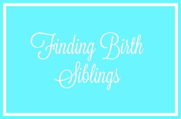 Finding birth siblings