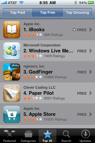 Windows Live Messenger #2 in App Store — OmarKnows