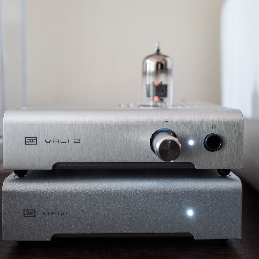 The phono amp is on the bottom and the pre-amp on top. Both have simple on/off switches.