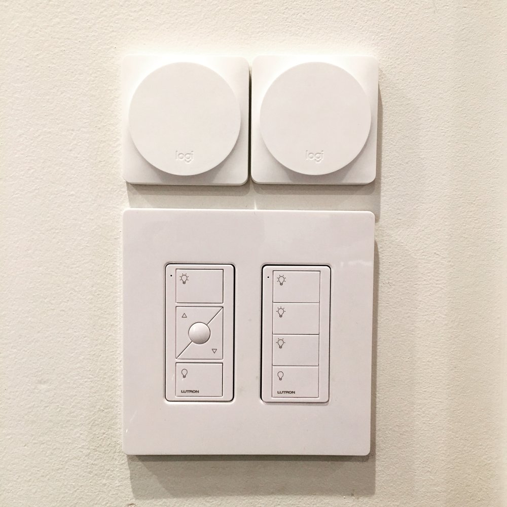 Here are two POP buttons in my house, above the Lutron switches