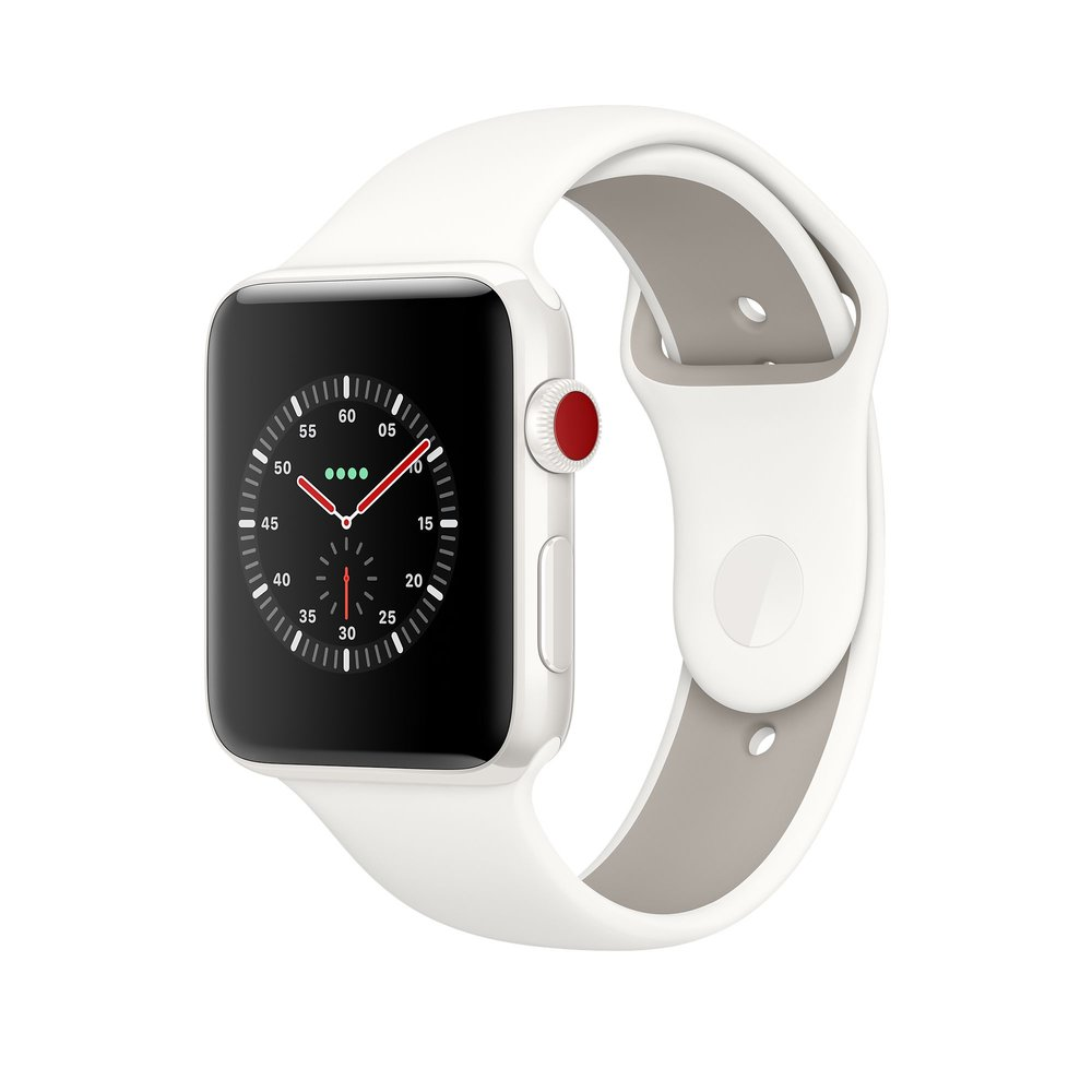 Apple Watch Series 3 - Apple is now one of the top watch sellers in the world. The Apple Watch has proven to be a solid watch and so much more. This watch pictured is the white ceramic which many people have never seen or won't buy due to price but it's a thing of beauty. Comes in gray ceramic too. I personally am fond of the black stainless and am on my second one.