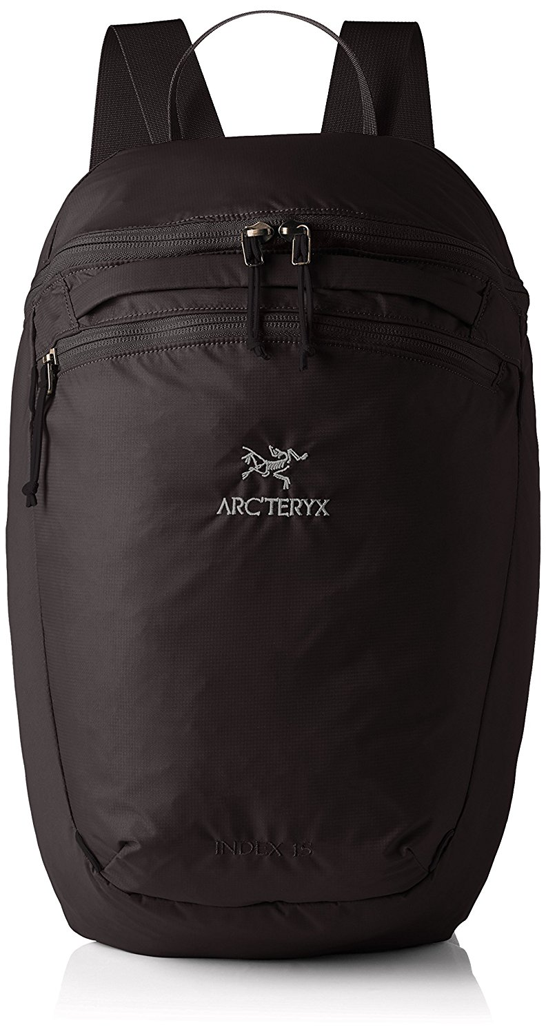 Arc'teryx Index 15 Backpack - This is a fantastic bag to take on trips when you need a small bag for the beach, the airport or whatever. It folds up very small.