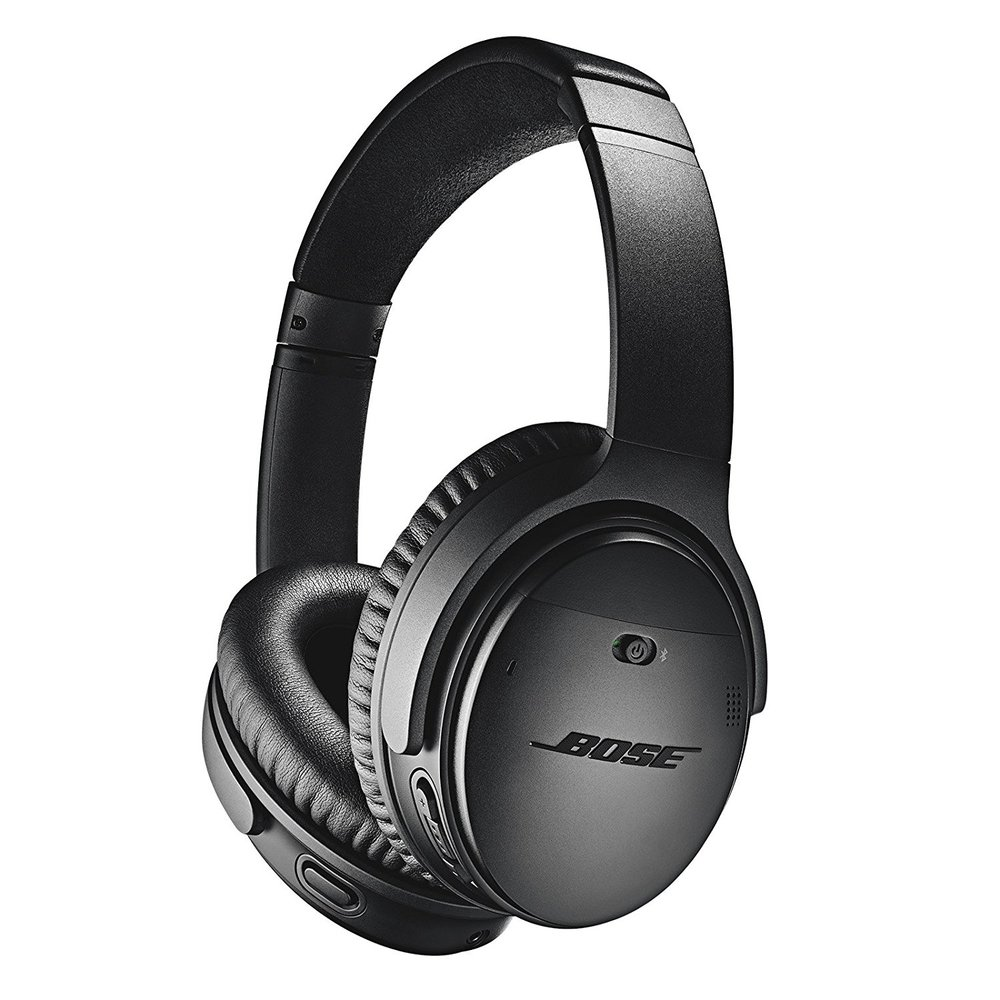 Bose QuietComfort 35 series II - The best noise cancelling over the ear headphones. I personally like the in ear ones as they are small and travel easily but these are incredible for flying.