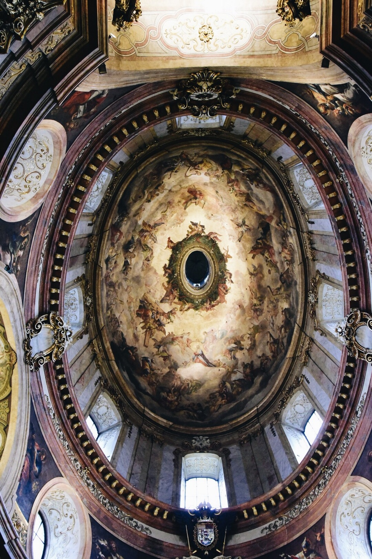 St. Peter's church ceiling in Vienna, Austria