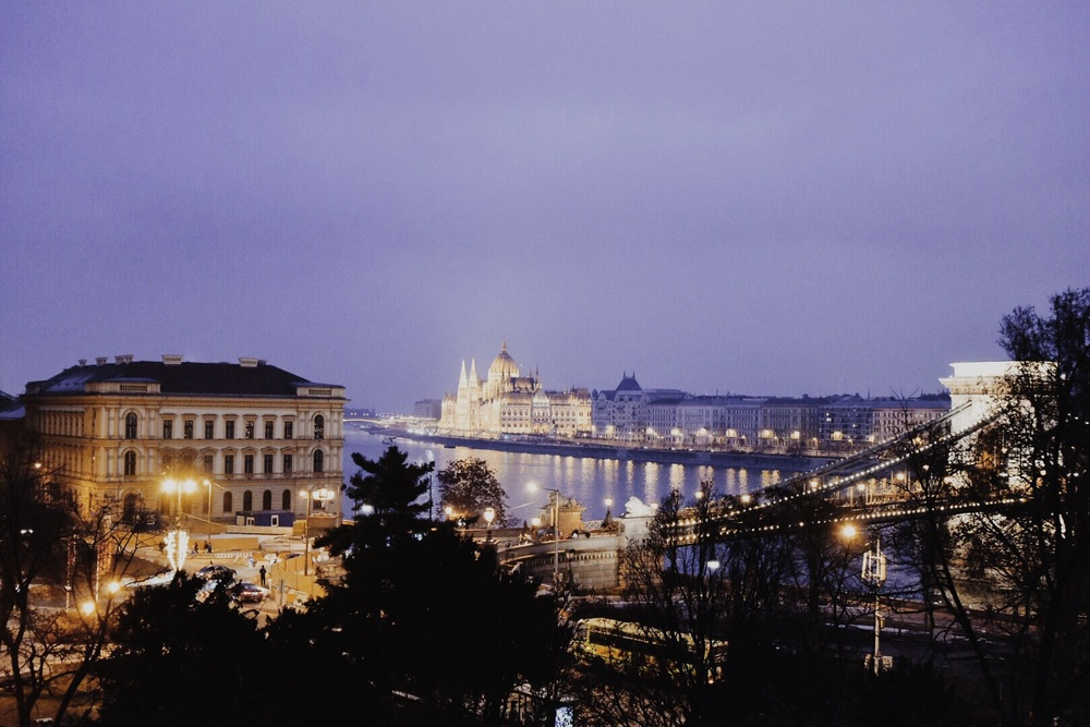 Parliament and the Chain Bridge, Budapest, Hungary
