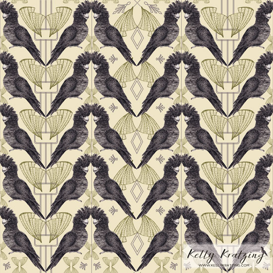 Black Cockatoo Pattern