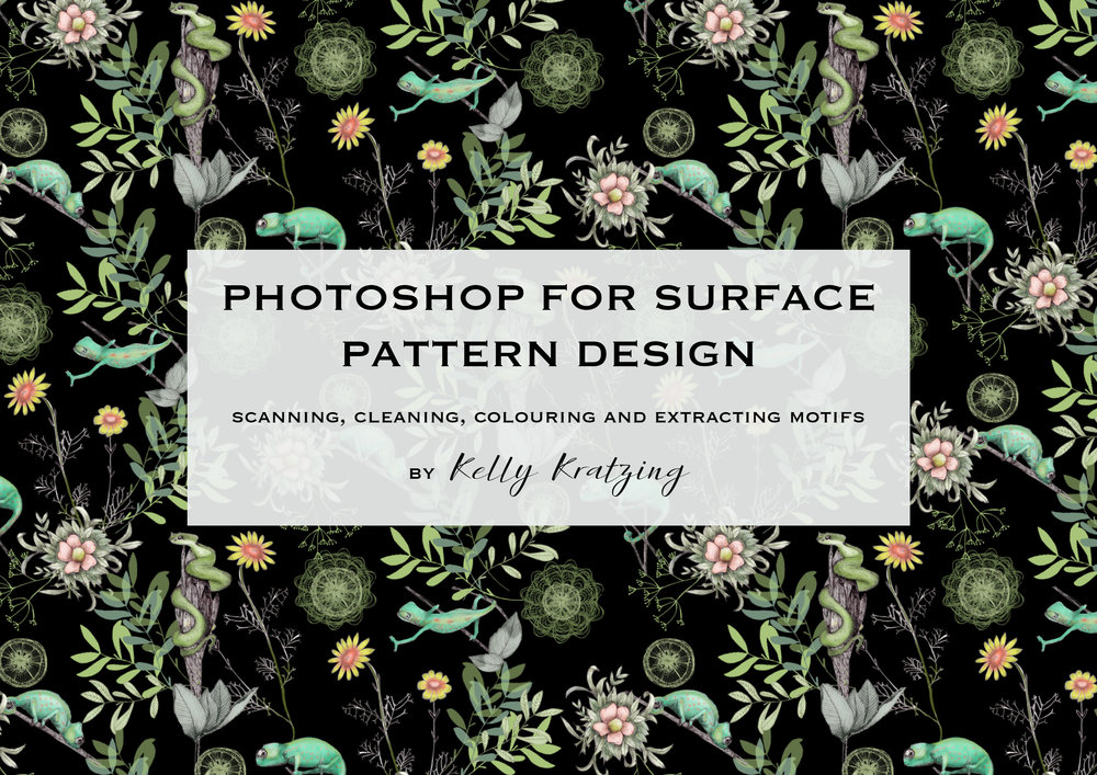Photoshop for Surface Pattern Design - Scanning, Cleaning, Colouring and Extracting Motifs - You can access my Skillshare class here: https://skl.sh/2IahWTxThis class is for artists and designers who want to learn how to digitise and import artwork into Photoshop, enhance and clean artwork ready for print, colour your artwork in Photoshop, and extract individual artwork elements to have ready-to-go motifs for surface pattern design projects.