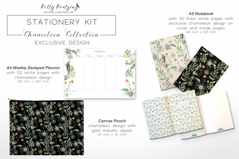 Designer Stationery Kit - Chameleon