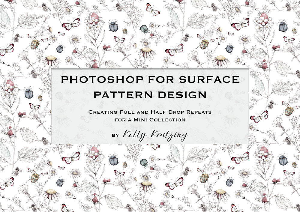 Photoshop for Surface Pattern Design - Creating Full and Half Drop Repeats for a Mini Collection - You can access my Skillshare class here: https://skl.sh/2LtCAD7This is the second class in my series, Photoshop for Surface Pattern Design. In this class I show you how I create both full drop and half drop repeats in Adobe Photoshop. I then show you how I create a mini collection that incorporates both a seamless full drop and half drop repeat pattern to go with a placement print of your choice ready to submit to an art director or to create your own products.