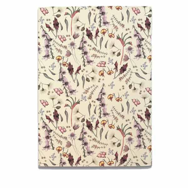 Wildflower Notebook - Cream