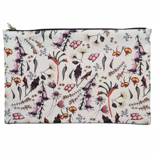 LARGE Wildflower Cotton Pouch - 23 x 37 cm