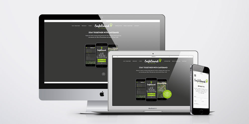 SafeBand Visuel identitet & UX design