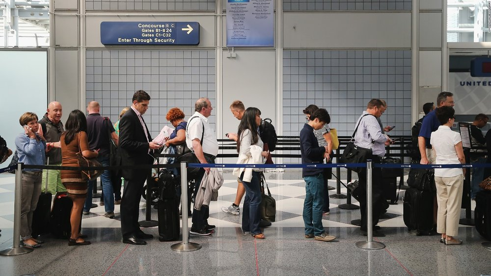 The shorter your flight, waiting in lines at the airport accounts for a higher percentage of your total travel time.