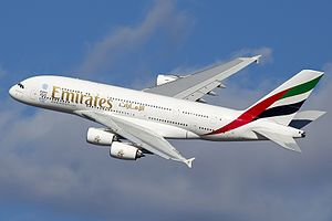 The Airbus A380-800 has a maximum range of 9,445 miles.