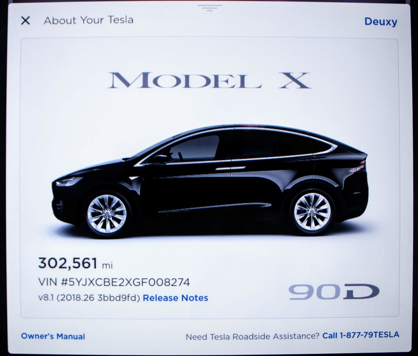 Model X 90d Deuxy Achieves 300 000 Miles In Less Than Two Years