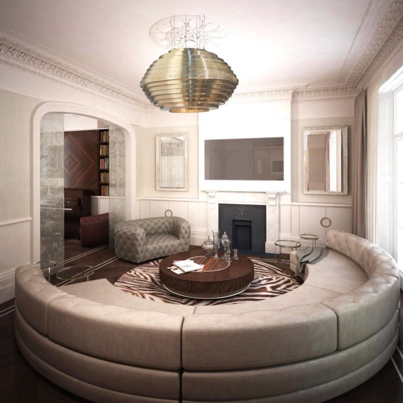 Luxury Interior Design Bespoke Furniture Leather Family Sofa Total Refurbishment High