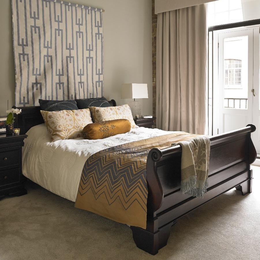 Elegant Brick Walls Apartment. Entire Refurbishment. Bespoke Wooden furniture. Mobile Interior Design. Open Living-room/Kitchen. Cherry Cabinetry.
