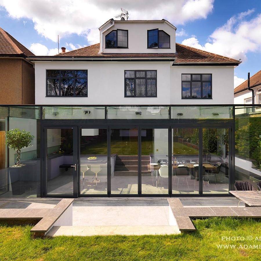 Glass expansion. Contemporary Interior Design House.