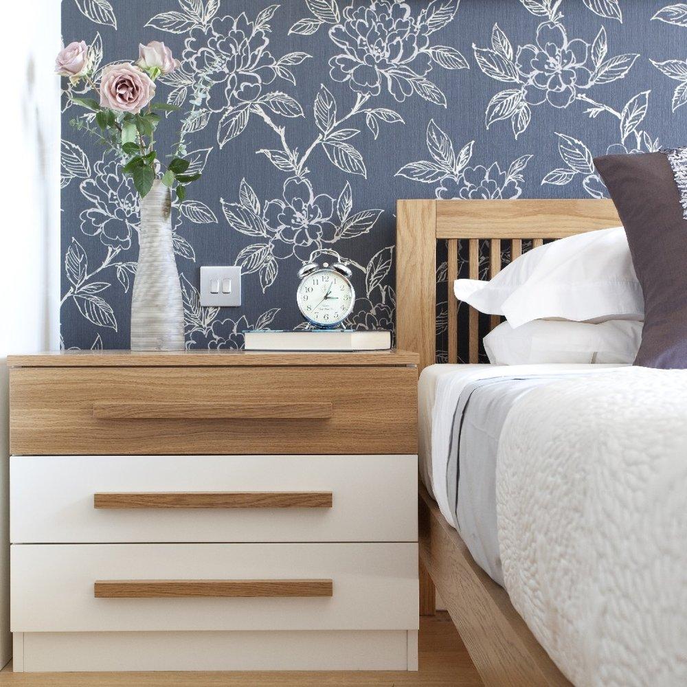 Minimalist Bright Interior Design. Simple Wood Bespoke Furniture.