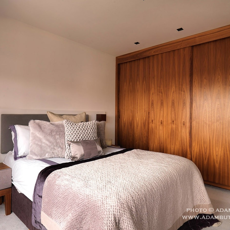 Luxury Interior Design. Contemporary/Modern Design. Bespoke Furniture. Bespoke Dressing Room. Bespoke Large Double Bed.