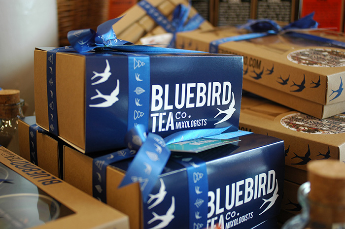 Bluebird Tea Co's stand / Photo: Caroline Rowland