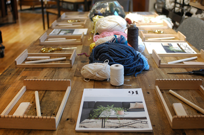 Lucy Davidson's weaving workshop / Photo: Caroline Rowland