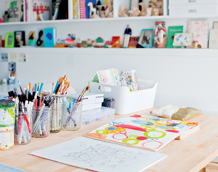 Lisa Congdon's studio - Photo: Janis Nicolay