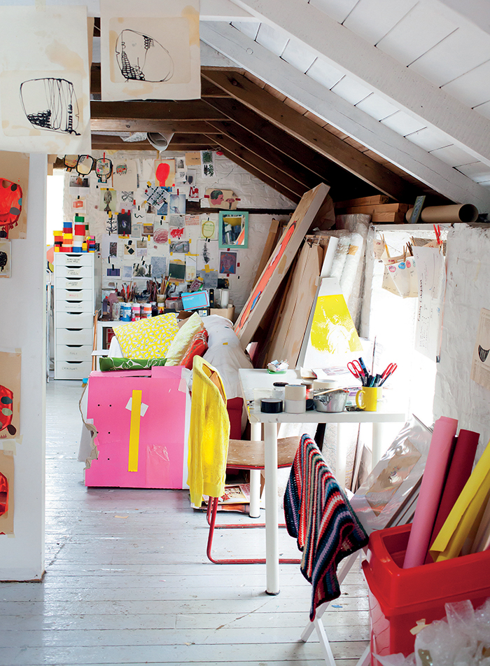 Sally Taylor's studio - Photo: Victoria Harley