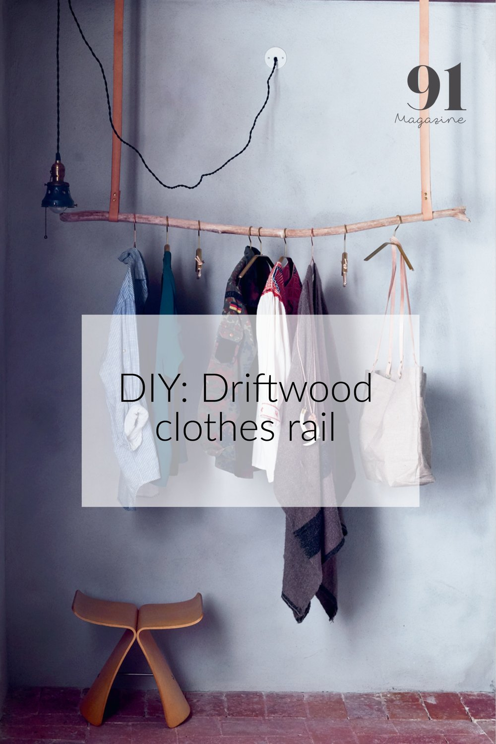 DIY Make your own driftwood clothes rail