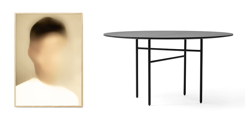 Portrait N by Gurilla, 580 DKK (approx £69);  Snaregade Table Round by Menu , Finnish Design Shop, £1691
