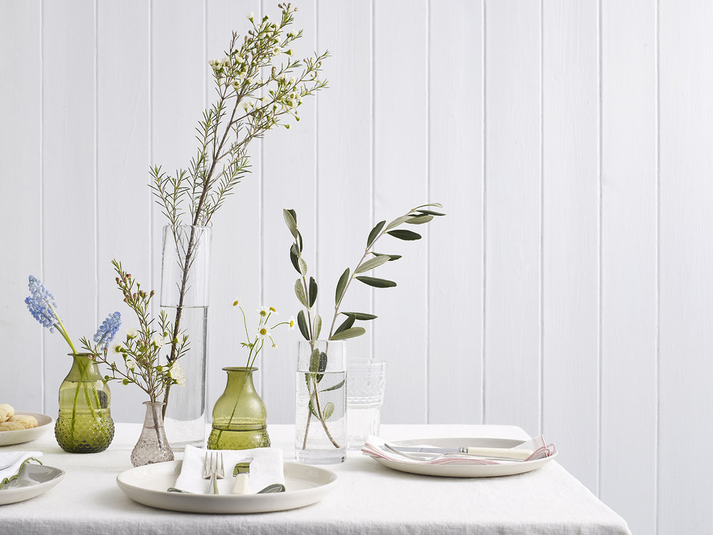 Styling with spring flowers and indie homeware products