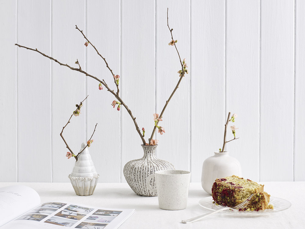 Spring flower styling and indie homeware products