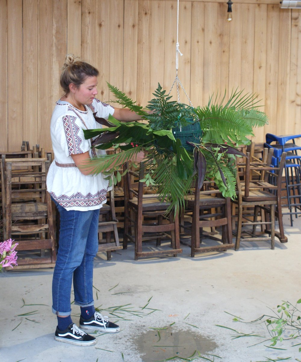 floral workshops with Forbesfield flower school