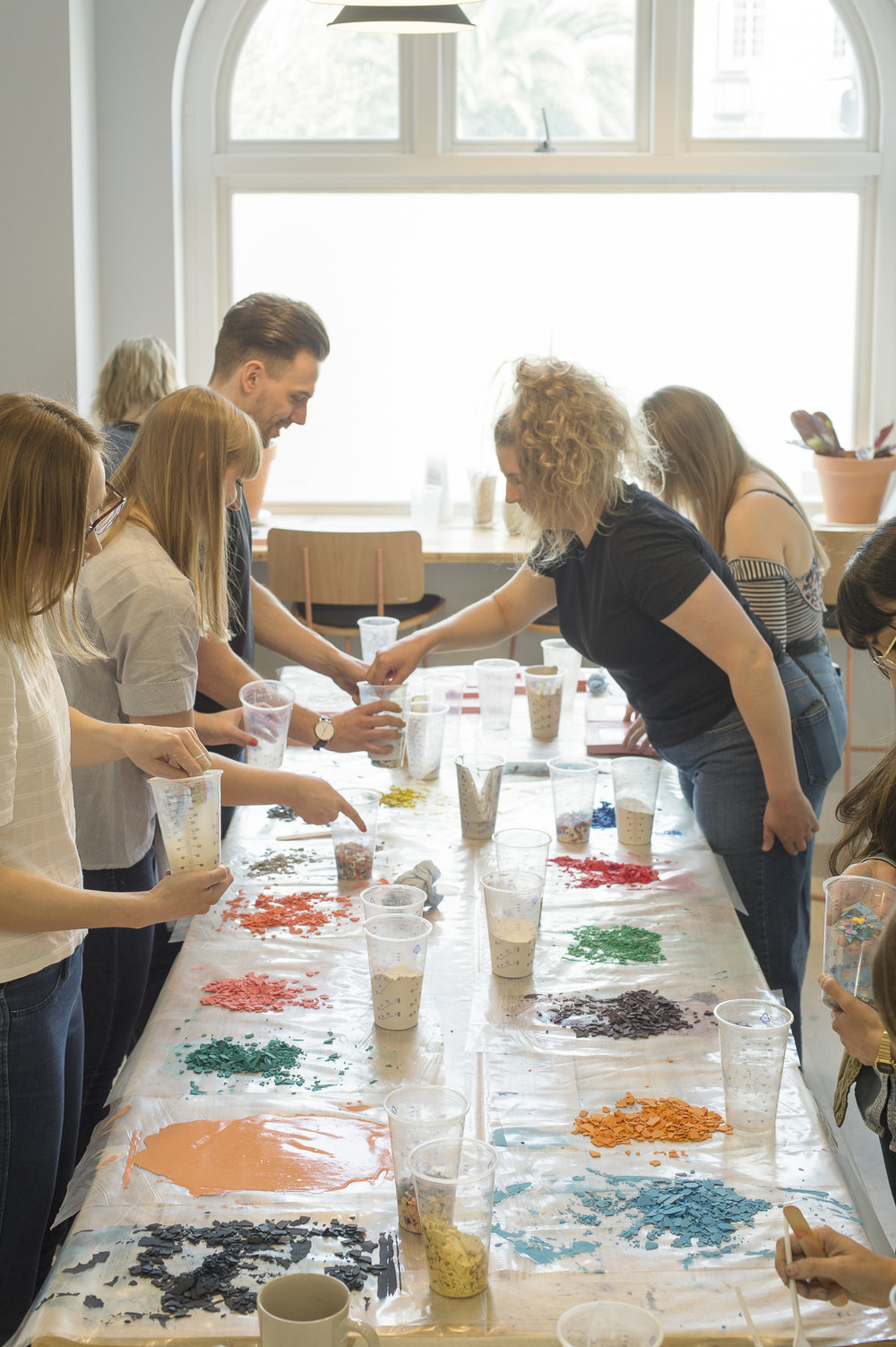 Olivia Aspinall terrazzo coaster workshop