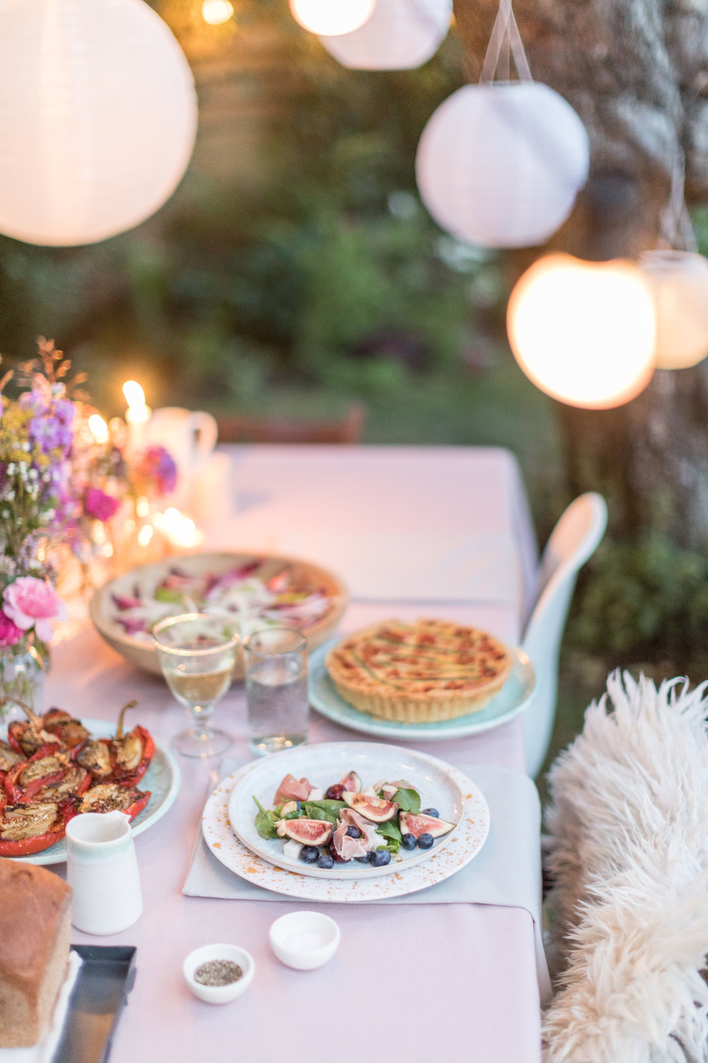 outdoor summer dining styling and recipes