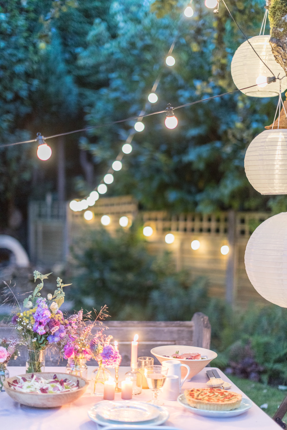 summer outdoor dining styling and recipes