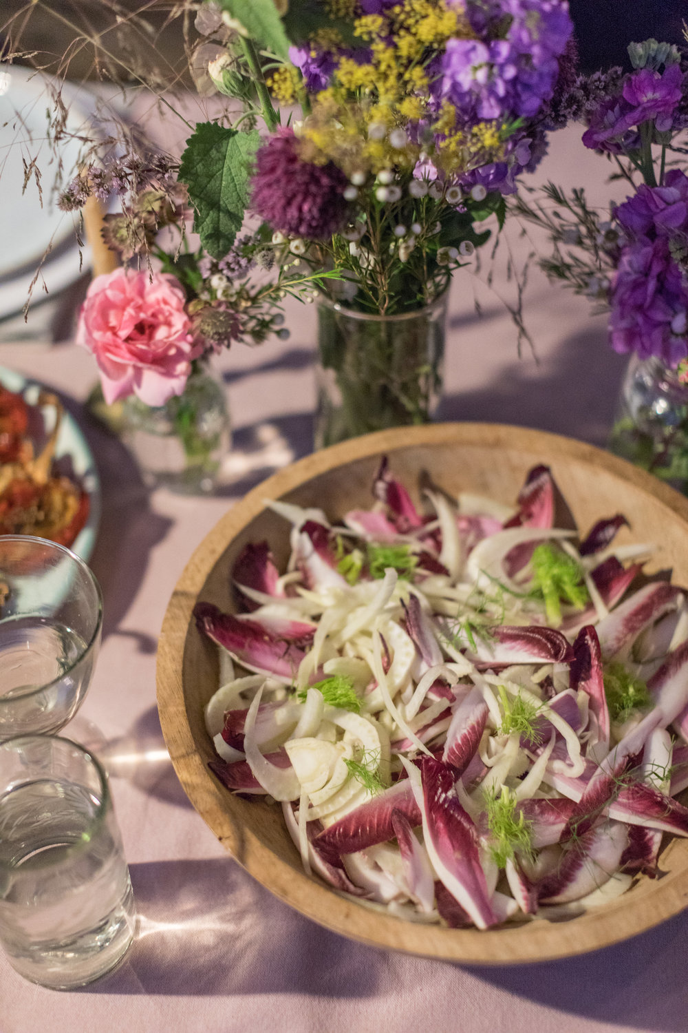 Chicory & fennel salad with lemon & anchovy dressing