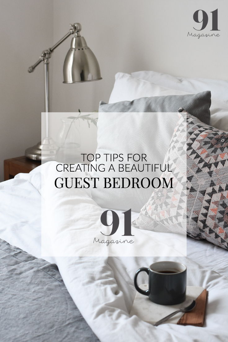 create a stylish guest bedroom