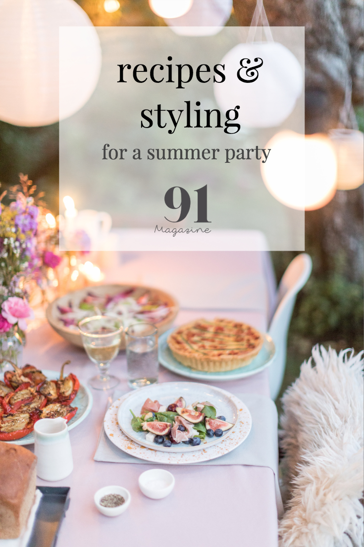 summer recipes and styling for a summer party