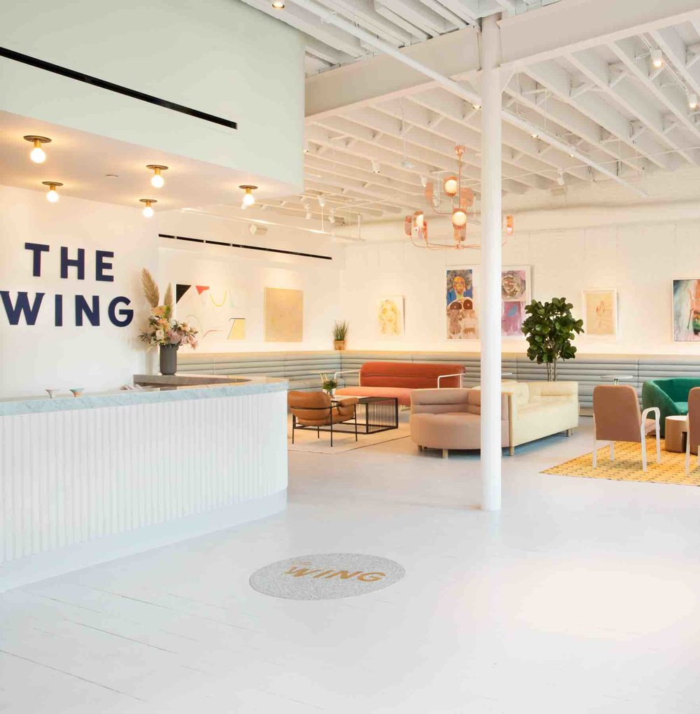 The Wing - female only co-working space New York
