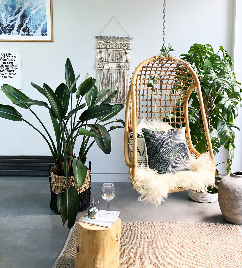 Rattan hanging chair , £199, House Curious