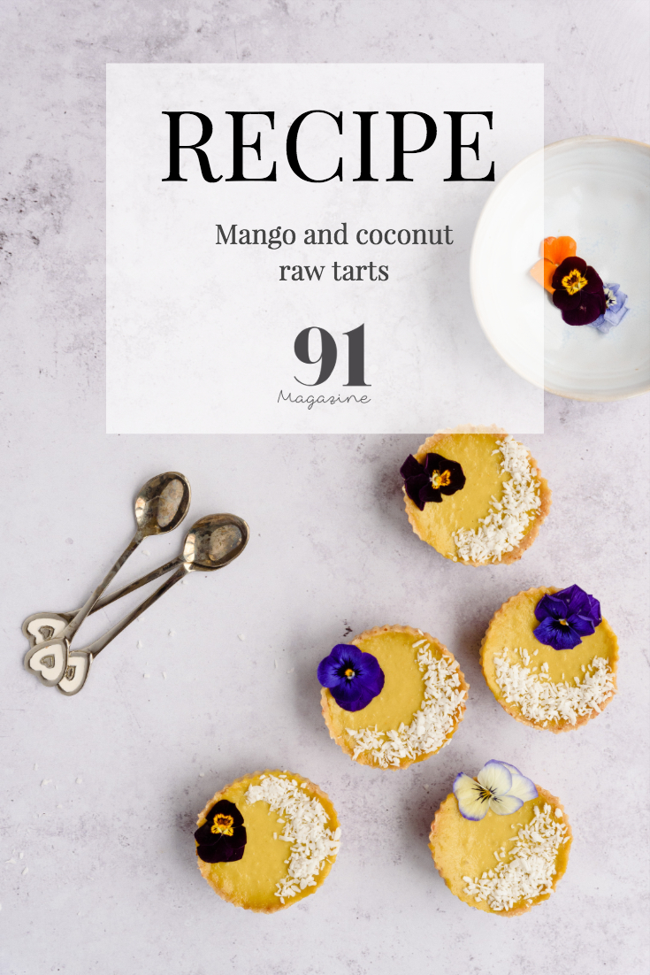 Mango and Coconut tarts RECIPE