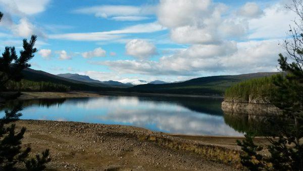 Fra enden av vannet Olstappen tatt under fjorårets løp. FOTO: Frode Monsen