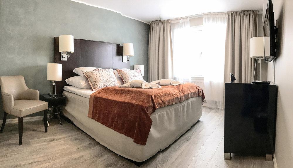 Skåbu Fjellhotell har hele 11 nye dobbeltrom samt 6 leiligheter for leie
