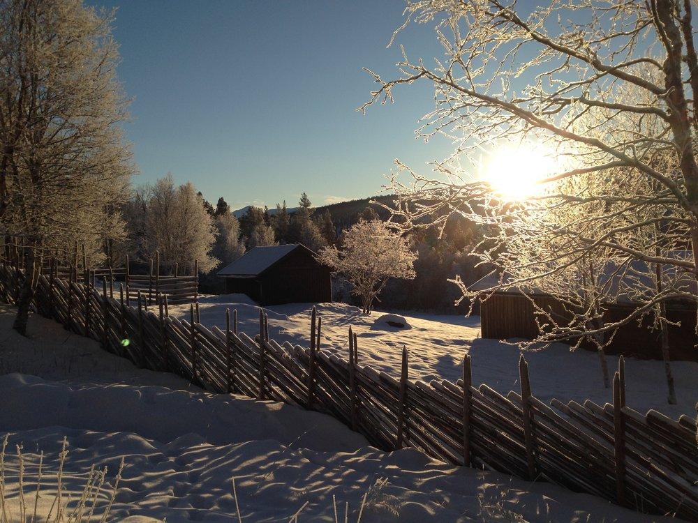 Desembersol over Perslåa